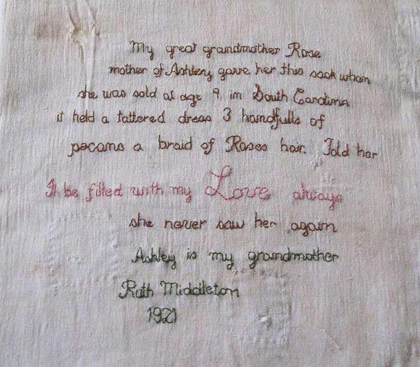 Detail of Ashley's Sack, courtesy of the Middleton Place Foundation