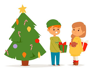 christmas-kids-character-playing-winter-