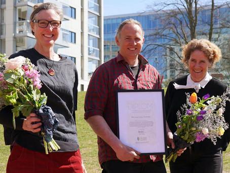 Peter Korn och Julia Andersson får 2021 års Stipendium till Ulla Molins minne