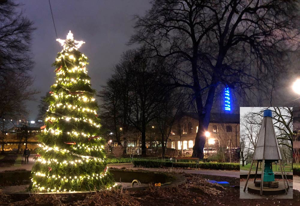 #karlstad #stadsträdgården #julgran