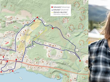 Cykel- och vandringsleder med historiska stopp