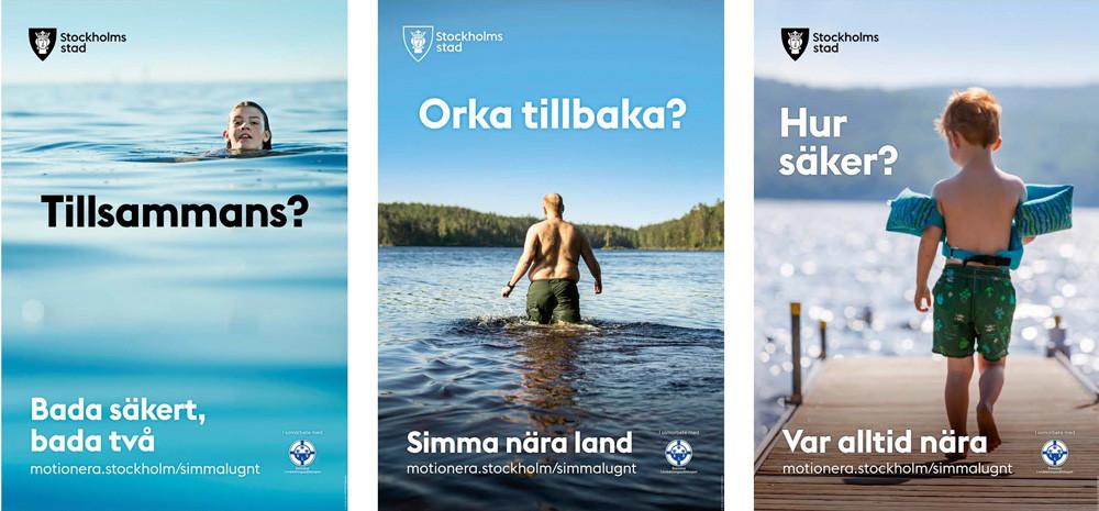 Stockholms stad hoppas att invånarna ska bada säkrare i sommar och har tagit fram en informationskampanj tillsammans med Svenska Livräddningssällskapet.