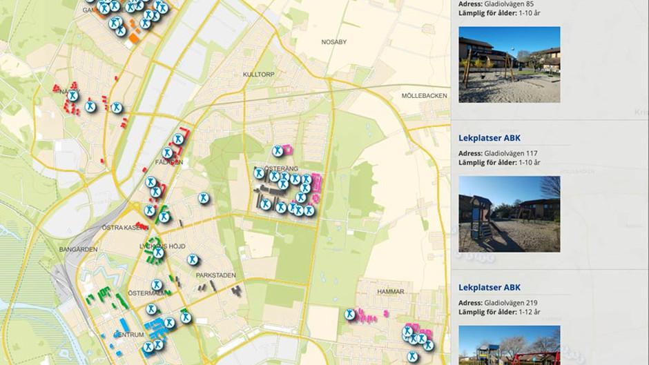 Lekplatskarta inspirerar till lek på nya platser