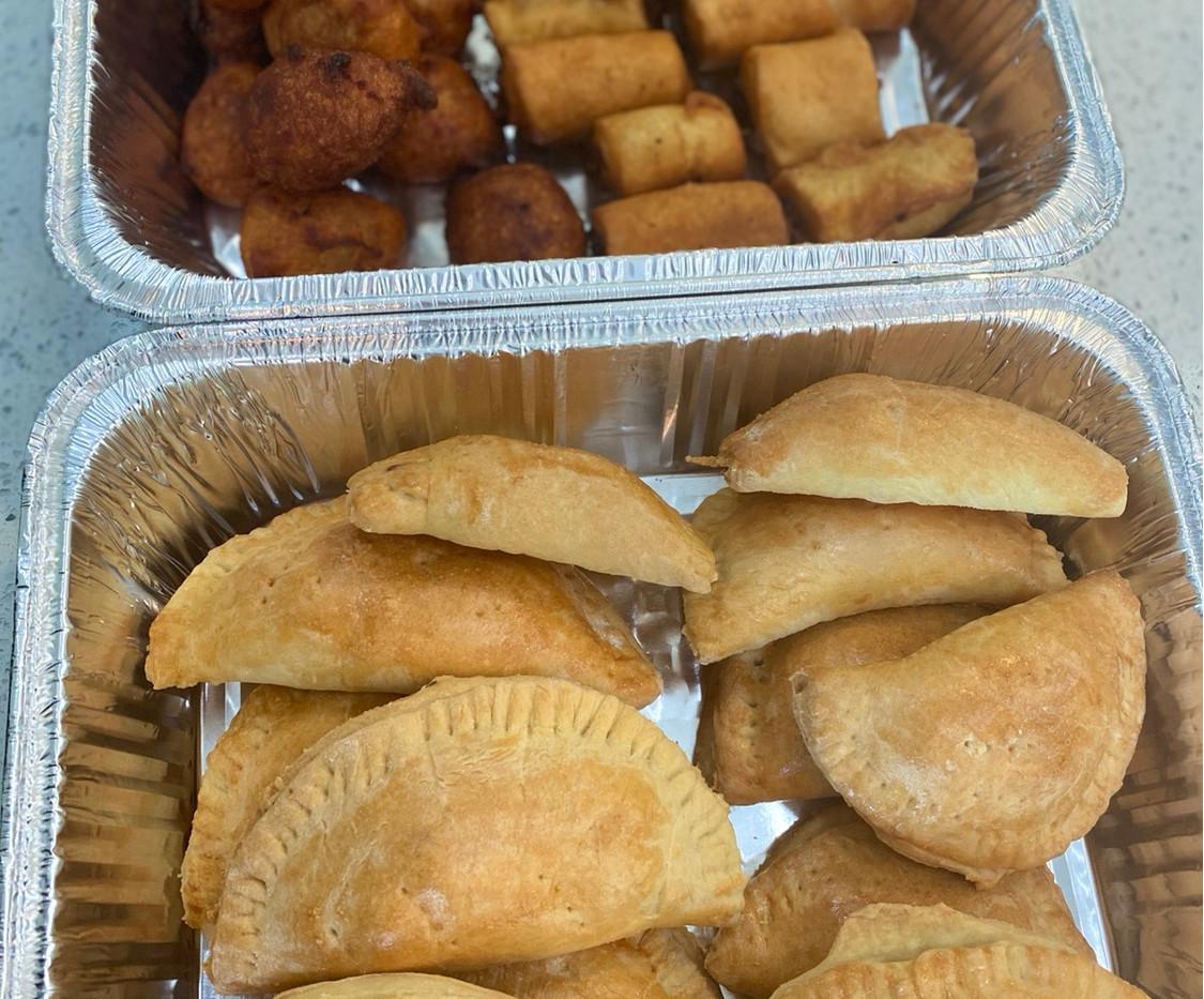 Chicken Pie, fish roll & Puff puff