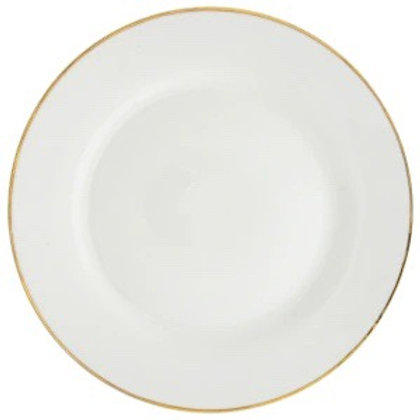 White Dinner Plates With Gold Rims