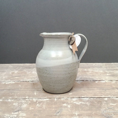 Large White speckle Jug