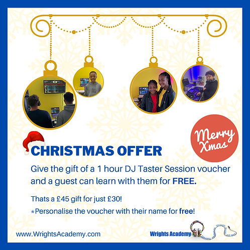 Taster Session Gift Voucher - Christmas Offer