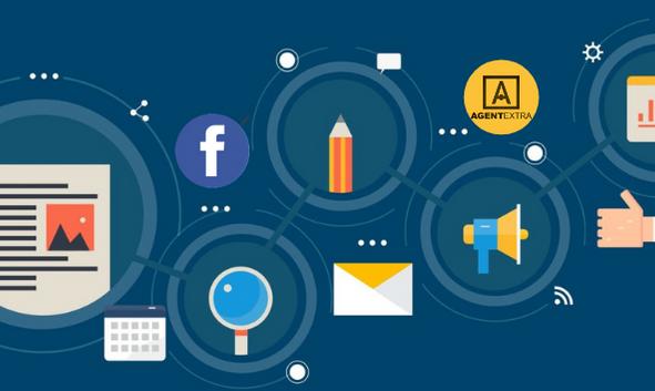 illustration of social media process for estate agents
