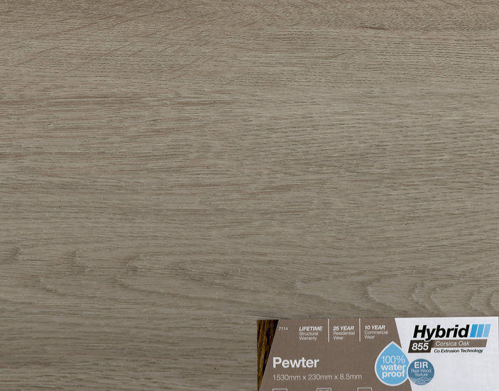 8.5mm PEWTER CORSICA OAK HYBRID 1530x230