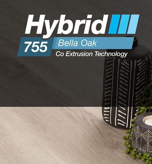 7.5mm CADET GREY BELLA OAK HYBRID 1220x180