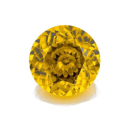 I16e-163 Yellow Zircon 17mm Round 24.56cts RUA