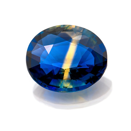 M197-004 - Parti-Sapphire 9.2x7.8 Oval 2.34cts AAS(TUES)