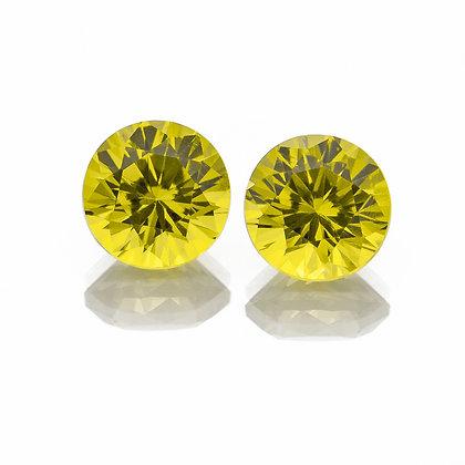J133f - Yellow Green Mali-Garnet 5mm Round 1.24cts TIA(UUX)