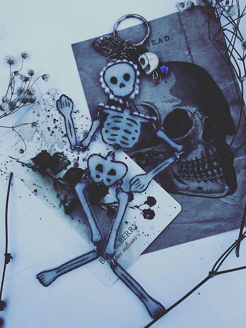 Skeleton Charm (glow in the dark)