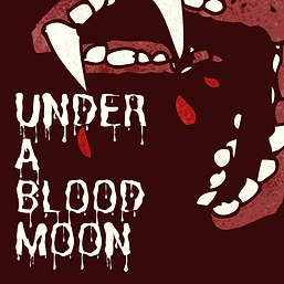 Red Vampire Fangs Spooky Halloween Party Invitation.png