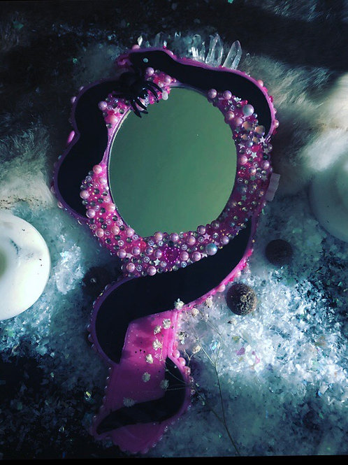 Crystal Snake handheld mirror (bgrade)