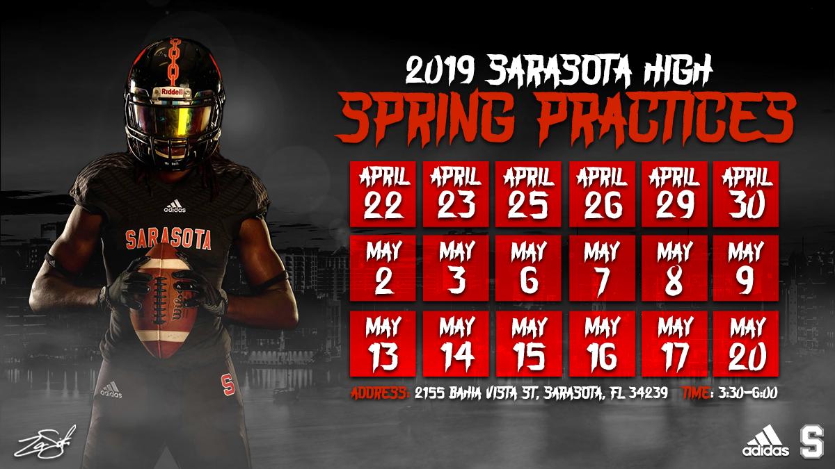 Spring 2019 Practice Schedule