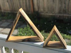 Blue Stain Pine Triangle Shelves