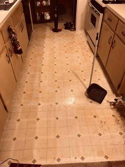 Before - Interior Kitchen Floor