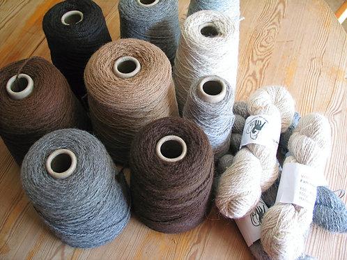 Strickwolle maschinell verarbeitet in div. Farben