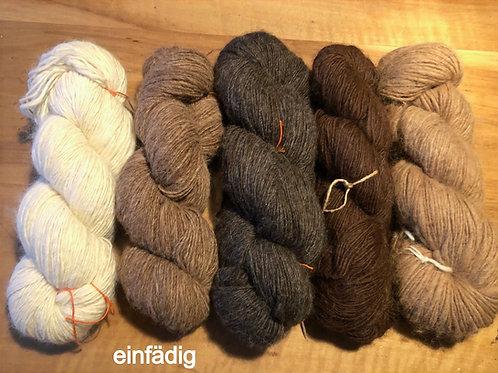 Strickwolle handversponnen in div. Farben