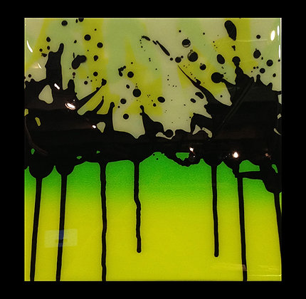 "Small Splash Lime Fade 12""x 12"""