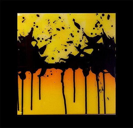 "Small Splash Yellow Fade 12""x 12"""