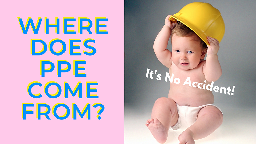 Baby in a hard hat