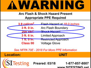 Know Your Arc Flash Sticker: Arc Flash Boundary and Limited Approach