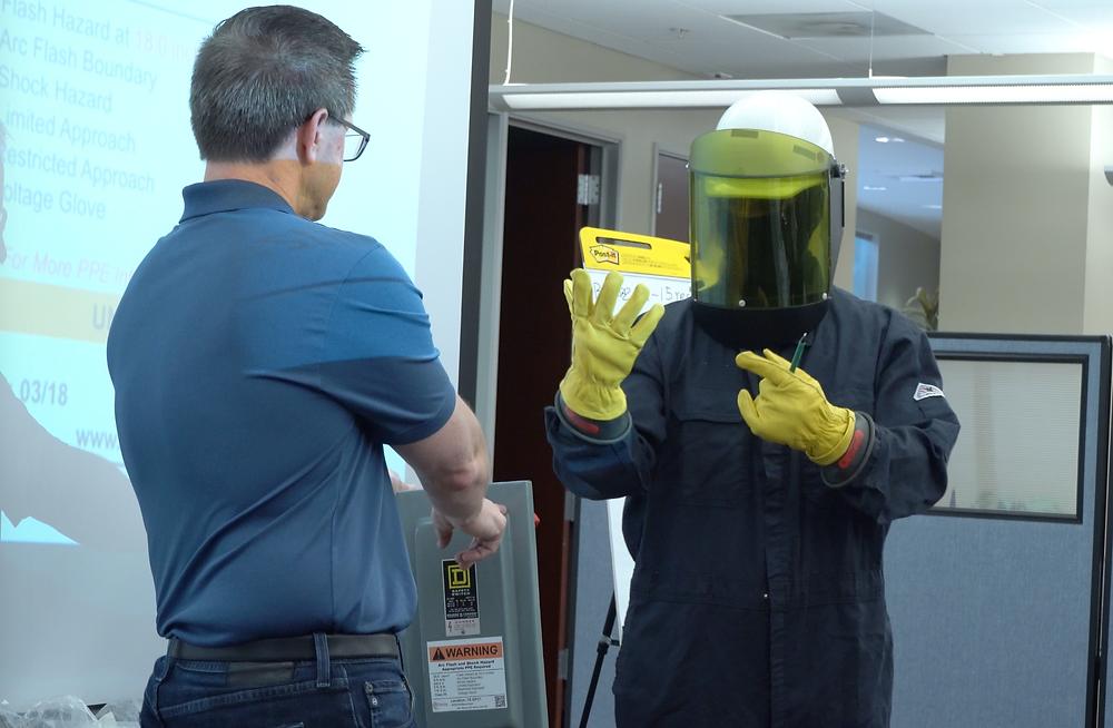 David explaining categories of PPE