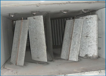 Damaged Floor Isolation Dampers