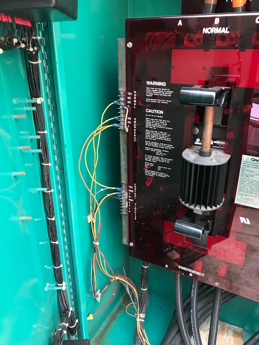 Onan ATS operator motor