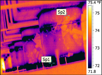 Duct Riser Infrared Image