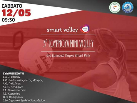 "3o Τουρνουά Μινι Volley στο ""Smart Park"""