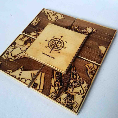 Valletta And The Three Cities Coaster Gift Set