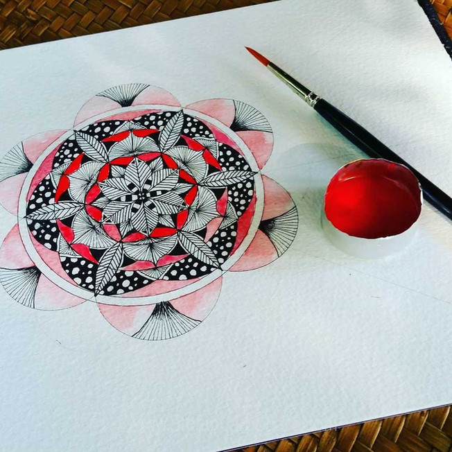 Red as Red Mandala