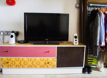 Colourful Vintage Retro Custom Design Studio Flat