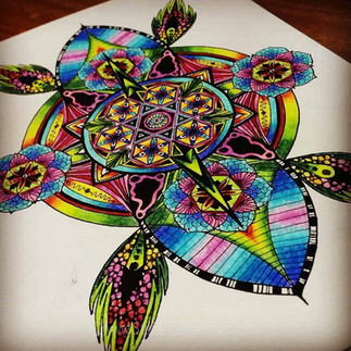Colouring a Mandala