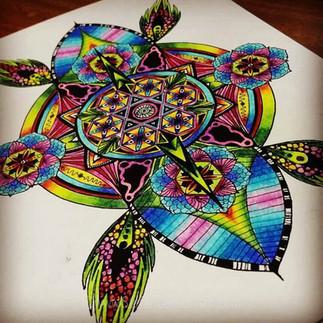 Colouring a Mandala