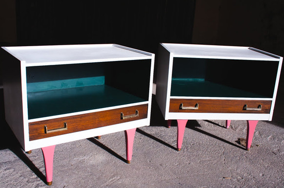 Retro Chic Bedside Tables