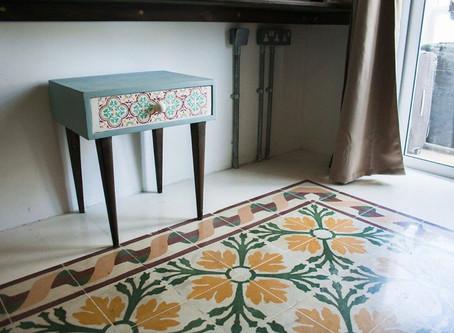 Maltese Blue Porcelain Vintage Studio Flat