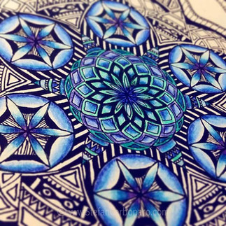 Blue Waves Mandala
