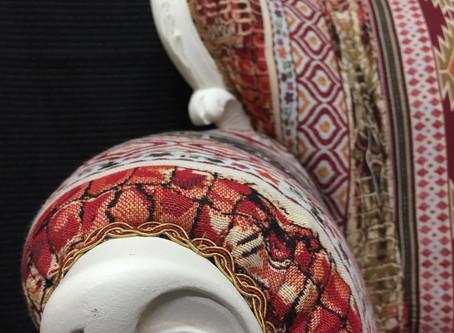 Upholstery Kilim Fabric Armchair
