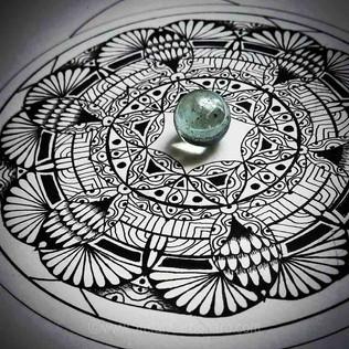 Glass Reflection Mandala