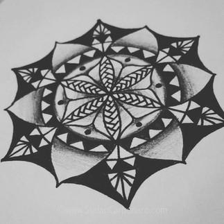 Black and White Mandala
