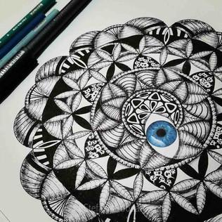 BLue Eye Mandala