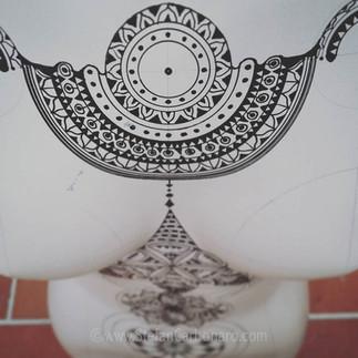Torso Necklace Mandala Tattoo