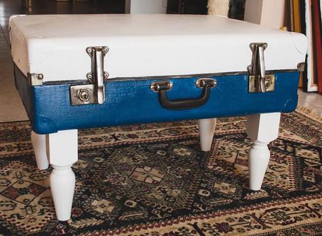 Vintage Luggage Wine Rack