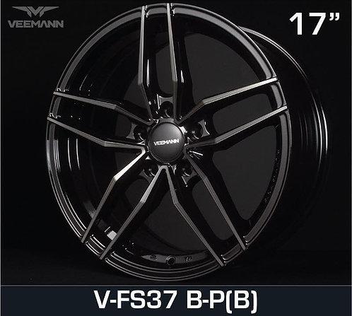 17x7.5 Veemann Rims VFS-37F Black Polish Black Clear