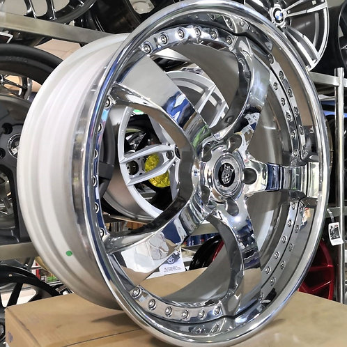 20x8.0 Advanti Rims V12-20 Chrome Silver